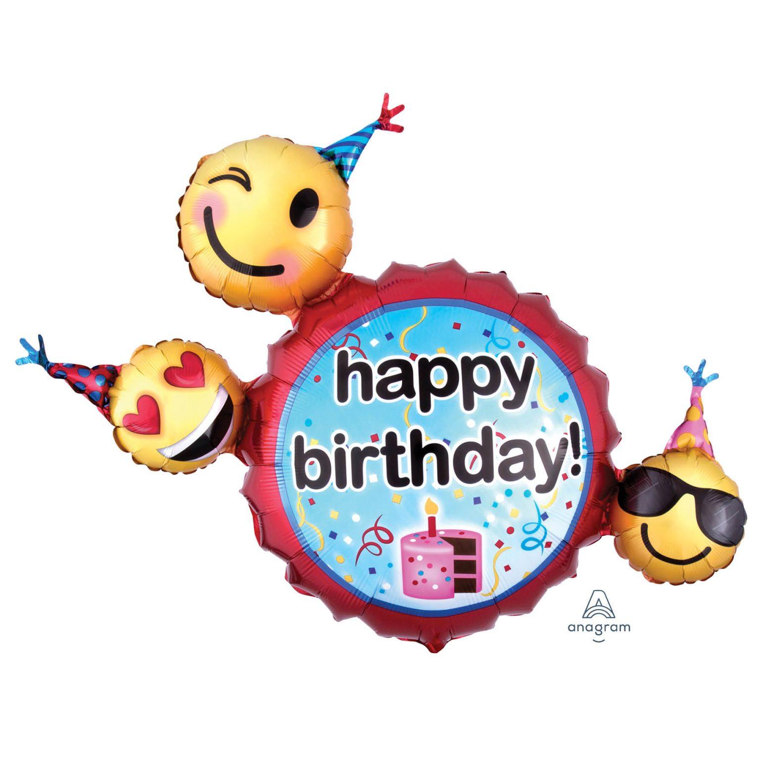 helium ballon emoticon birthday wishes