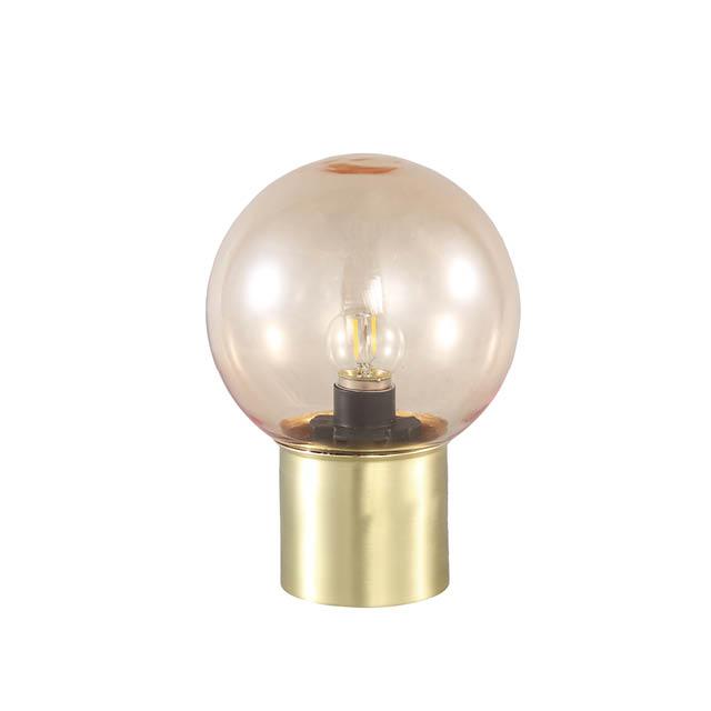 Glazen LED lamp goud
