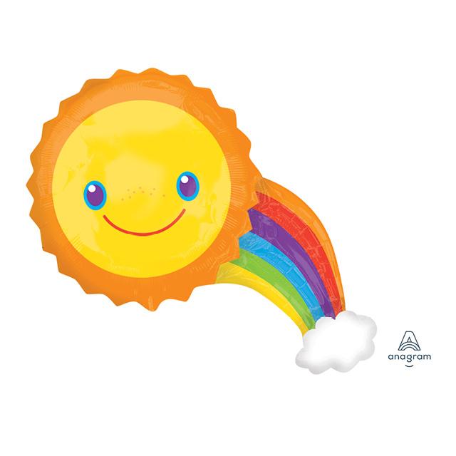 AN Shape Rainbow with sun